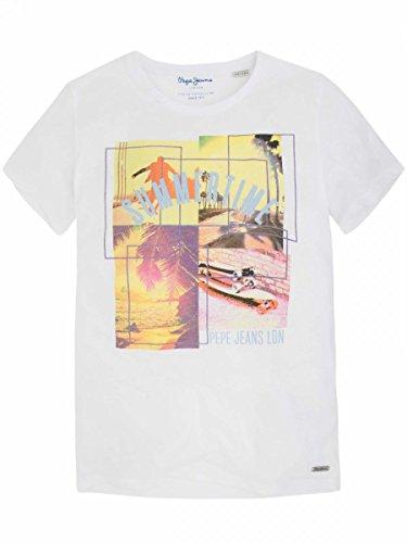 PEPE JEANS - T.shirt manches courtes blanc ado garçon Pepe Jeans