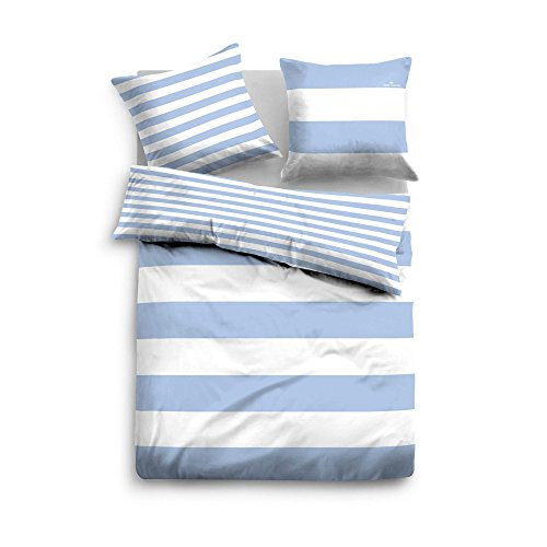 TOM TAILOR Wendebettwäsche Casual Stripe 49769-843 1 Bettbezug 135x200 cm + 1 Kissenbezug 80x80 cm -