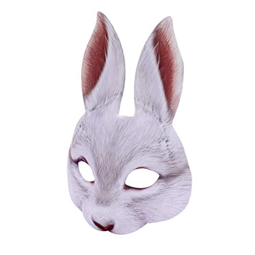 Bunny Kostüm Füße - Zolimx Kaninchen Tiermaske Lustiges Kostüm Co Mask-Bunny Kostüm Tier Kostüm Halbmaske