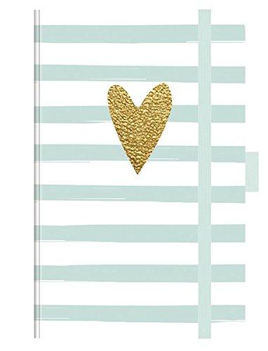 """Premium Timer Small """"Heart Glamour"""" 2018: Buchkalender - Terminplaner mit hochwertiger Folienveredelung und Prägung. 9 x 14 cm"""