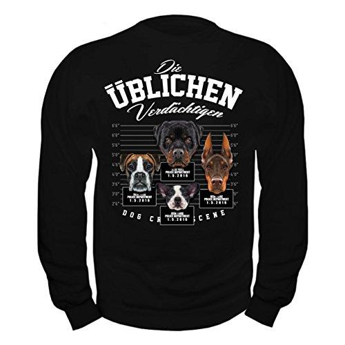 Rottweiler Pullover (Männer und Herren Pullover Die üblichen Verdächtigen)