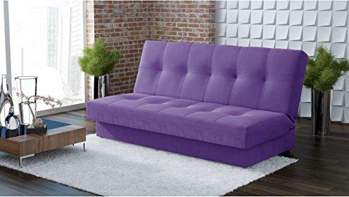 JUSTyou Caro Einzelsofa Sofa Schlafsofa Stoffbezug (BxLxH): 94x200x90 cm Violett