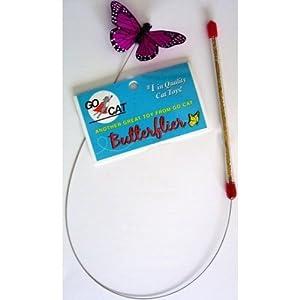 Da Butterflier - Butterfly and wand cat toy: From the maker of Da Bird