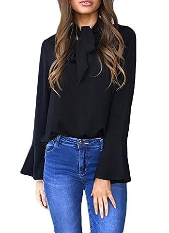 Bluse Damen Elegant Langarm Oberteil For Women Mit Strappy Schmetterling Herbst Tops Grundiert Mode Basic Neckholder Winter T-Shirt Locker Blouse Jungen