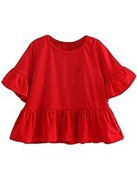 La Cabina T-shirt Fille &T-shirt Doux Enfants T-shirts Manches Courtes Vêtements Manteaux