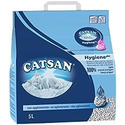 Catsan Hygiène plus - Litière minérale pour chat, 1 sac de 5L