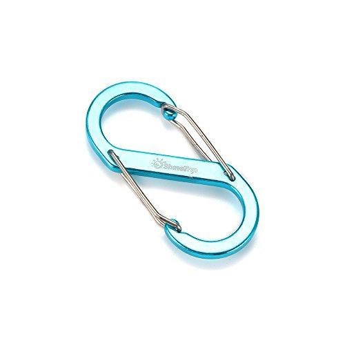 Sunsbell S-förmige Schnalle S-Biner Doppelgated Karabiner Schlüsselring Clip Haken Outdoor für Camping Schlüsselanhänger -