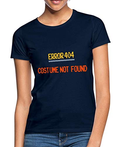 Spreadshirt Error 404 Costume Not Found Frauen T-Shirt, S (36), Navy