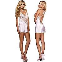 European Style Fashion White Lace Sleepwear Lingerie Dress For Women(s025w)