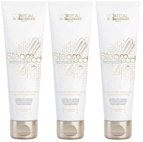 Lot de 3 Crèmes de lissage Steampod - cheveux épais Pro Active 150 ml