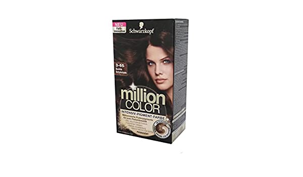 Haarfarbe Schwarzkopf Million Color 3-65 Dunkle Schokolade: Amazon ...