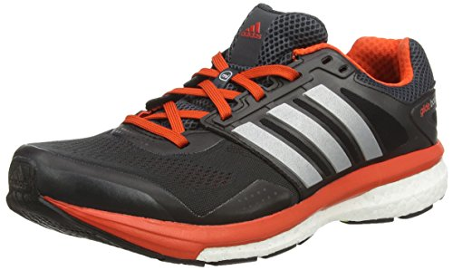 adidas Men's Supernova Glide Boost 7 M Dark Grey, Silver and Bold Orange Mesh Running Shoes - 7 UK  available at amazon for Rs.8399