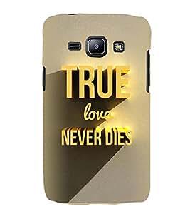 FUSON True Love Never Dies 3D Hard Polycarbonate Designer Back Case Cover for Samsung Galaxy J1 (6) 2016 :: Samsung Galaxy J1 2016 Duos :: Samsung Galaxy J1 2016 J120F :: Samsung Galaxy Express 3 J120A :: Samsung Galaxy J1 2016 J120H J120M J120M J120T