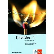 Einblicke Physik/Chemie 1. Lehrerband-CD-ROM 5./6. Schuljahr. Ausgabe für Niedersachsen. Windows XP; 2000 und Mac OS X 10.3: Mit Kopiervorlagen