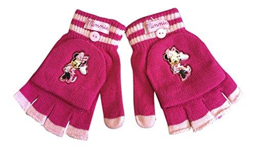 Kinder Ellenbogen Handschuhe (Disney - Mädchen Minnie Mouse Winterthermal Fäustling Fäustlinge Fingerlose Handschuhe in Cerise und Rosa)