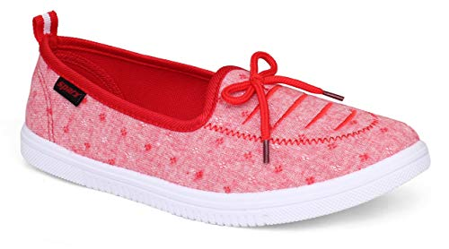 Sparx Women SL-115 Red White Casual Shoes