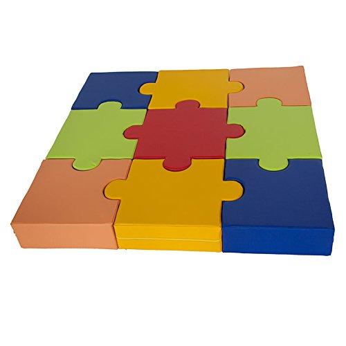 kidunivers–Sitzsack multi-puzzle aus Schaumstoff 150x 150cm–9-teilig