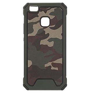 jbTec® Hybrid Case Handy-Hülle TPU #C52 Camouflage passend für Huawei P20 / Lite / P9 Lite - Schutzhülle weich wie Silikon Tarnfarben, Farbe:Oliv-Grün, Modell:Huawei P9 Lite/Dual SIM