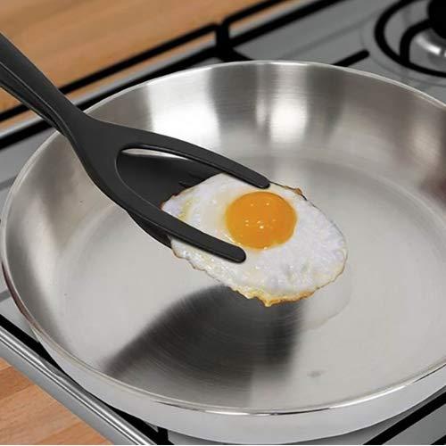 yam03 Creative Egg Pie Servers+Tweezers 2IN1 Flip Perfect Pancake Making Useful Easy Baking Cooking Shovel Turner Home Kitchen Tool Easy Flip Turner