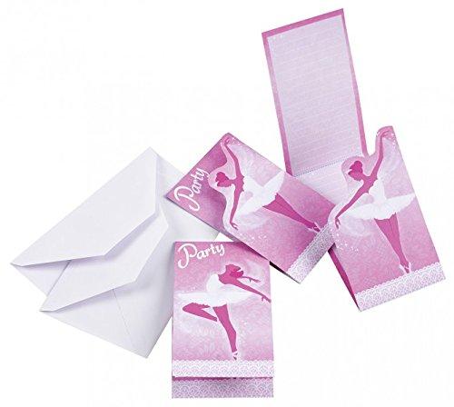 Amscan Ballett Einladungen und Umschläge