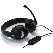 Conceptronic USB Professional Level Headset - Auriculares de diadema cerrados con micrófono (control remoto integrado, USB)