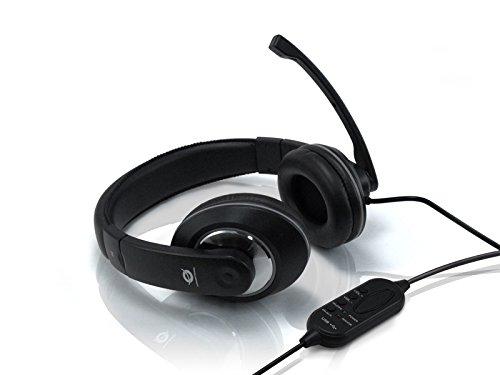 Conceptronic USB Professional Level Headset - Auriculares de diadema cerrados con micrófono (control remoto integrado,