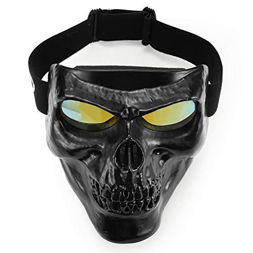 QXTKHW Motorrad Dirt Bike ATV Schutzbrille Maske Abnehmbare Harley Style Schützen Polsterung Helm Sonnenbrille Rennrad UV Motorrad Brille