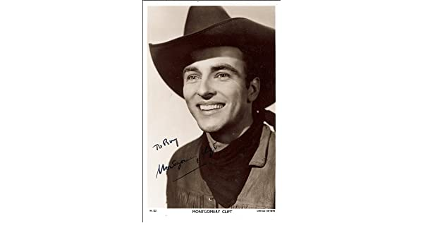 MONTGOMERY CLIFT AUTOGRAPH SIGNED PHOTO PRINT APPROX SIZE 12X8 INCHES