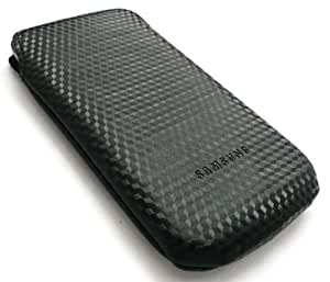 GENUINE SAMSUNG I9000 GALAXY S BLACK CHECK PATTERN FABRIC SLIDE IN CASE/COVER (SIZE LARGE) BULK PACK