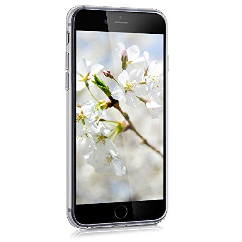 kwmobile Housse miroir pour Apple iPhone 6 / 6S Étui TPU en silicone cover portable, housse de protection en couleur argent miroitant mer de fleurs pointe blanc transparent