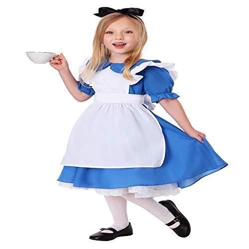 Diablo Mädchen Kostüm - YXRL Mädchen Cosplay Kostüm - Kinder Lustige Kleid Kostüm Anzug Perfekt Für Weihnachten Halloween Party Rollenspiel Blue-M
