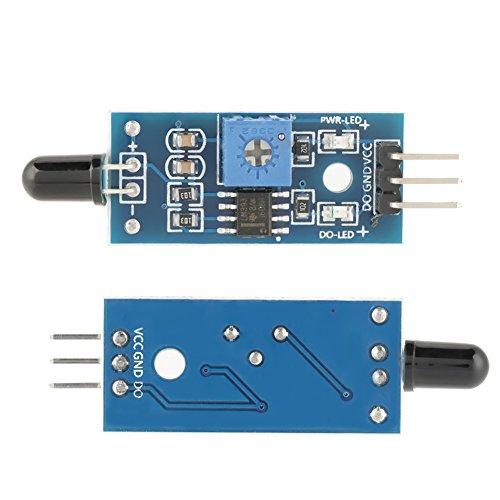 5Pcs IR Flammen-Sensor-Modul-Detektor für Breiten-Spannung LM393-Komparator, der Flamme ermittelt -