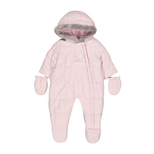 Mothercare Baby-Mädchen Schneeanzug Graphic Snowsuit Fleece, Pink (Pale Pink), 56