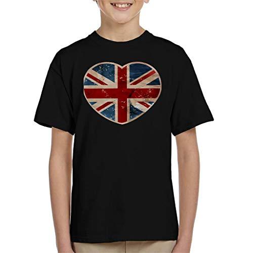 Union Jack Love Heart Kid's T-Shirt