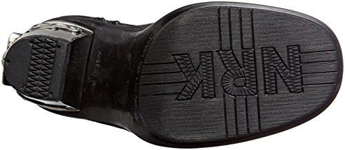 New Rock M-8358-s1, Stivali da Motociclista Donna Nero (Black)