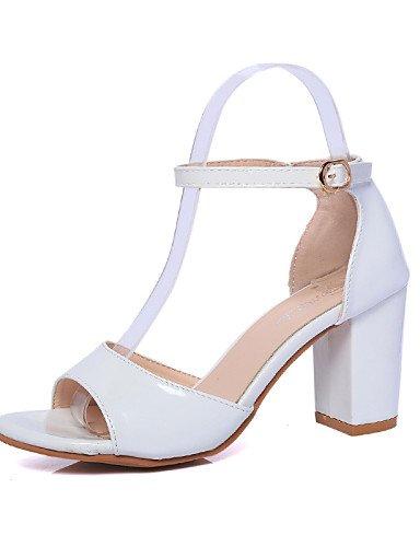 LFNLYX Scarpe Donna-Scarpe col tacco-Tempo libero / Ufficio e lavoro / Casual-Spuntate-Quadrato-Finta pelle-Nero / Rosa / Bianco / Argento Pink