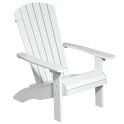 NEG Design Adirondack Stuhl MARCY (weiß) Westport-Chair/Sessel aus Polywood-Kunststoff (Holzoptik, wetterfest, UV- und farbbeständig)
