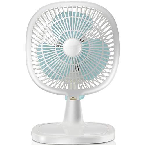 Lingyun Elektrischer Fan/Tischventilator Moving Head Fan Haushalt Lärmarm Desktop-Lüfter (Blau und Weiß)