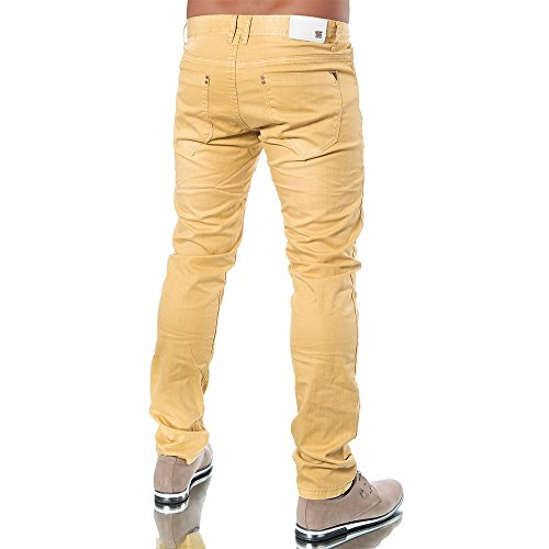 M295 TMK Herren Chino Straight Jeans Denim Hose Designer Chinohose Regular Fit Camel