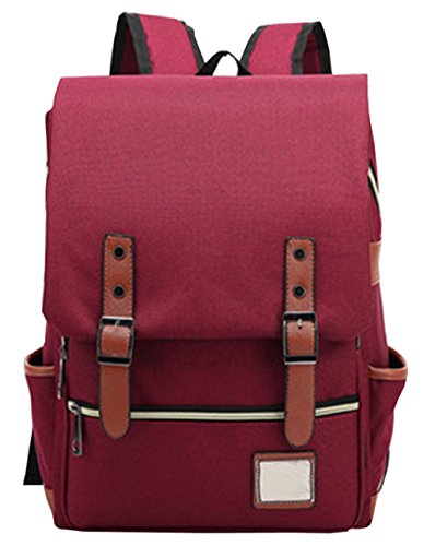 hopeeye-college-style-womens-and-grils-red-wine-canvas-school-backpack-bag