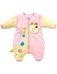 Happy Cherry Saco de Dormir Sleepwear de Piernas Separadas con Mangas Desmontables para Bebés Unisex