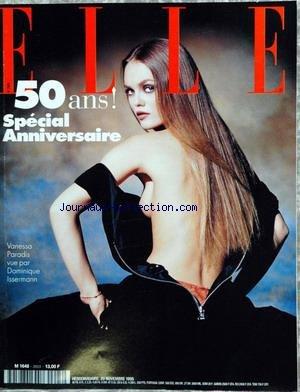 ELLE [No 2603] du 20/11/1995 - SPECIAL 50 ANS - VANESSA PARADIS PAR DOMINIQUE ISSERMANN.
