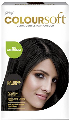 Godrej Coloursoft Hair Colour, Natural Black 80ml + 24g