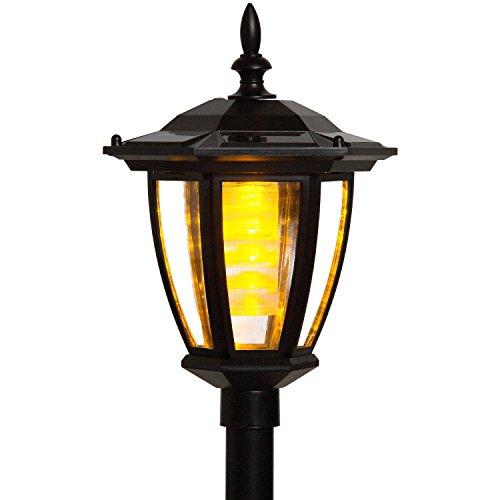VOLTRONIC® 2in1 Solarlampe LED Gartenlaterne, als Hängelaterne oder mit Erdspieß, Solarleuchte Höhe 78 cm Solar-Laterne
