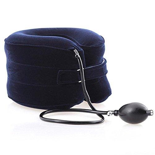 Orthopädische Unterstützung Kissen (CXDM Halswirbel Kragen Halskrause Hals Traktion Unterstützung Therapie Medizinische Orthopädische Aufblasbare Air Nackenmassagegerät Kissen C)