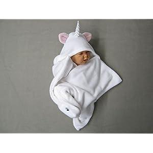star fleece baby wrap stern schlafsack pucktuch swaddle einhorn weiß
