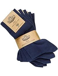 ORIGINAL Rob & Dave's 2, 5 oder 10 Paar Classic Socken - für Frau & Mann - Größen von 39-50 - Business & Freizeit Unisex Strümpfe - ohne drückende Naht - angenehmer Komfort-Bund