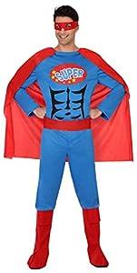 Atosa-39384 Disfraz Héroe Comic, Color Rojo, M-L (39384)