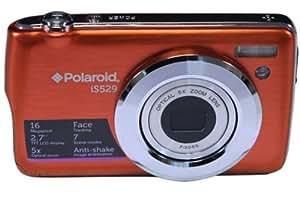 "Polaroid IS529 16 Megapixel Compact Digital Camera - Orange (16MP, 2.7"" Screen, 5x Optical Zoom, Li-Ion Battery)"