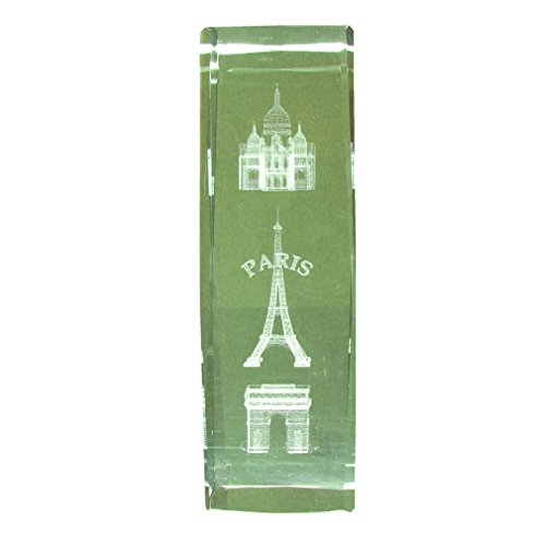 Souvenirs de France - Grand Bloc Verre Monuments de Paris - Transparent